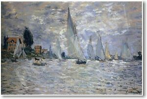 Boats Regatta at Argenteuil - Claude MONET - NEW French Art Print POSTER