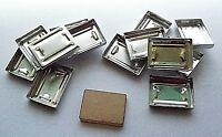 Press Your Powders Lot of 12 x Rectangle Aluminium Plate Pans with Stamp Tile