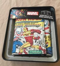 Marvel Comic Cover Slim Wallet & Collector Tin: Iron Man vs. Captain America!