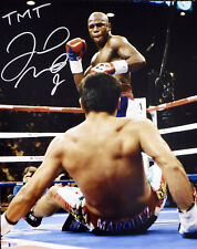 "FLOYD MAYWEATHER JR. AUTOGRAPHED SIGNED 16X20 PHOTO ""TMT"" BECKETT BAS 159711"