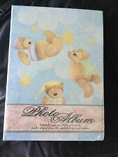 New Sealed Charming Picture Book Baby Blue Teddy Bear Stars Photo Album 7 X 10