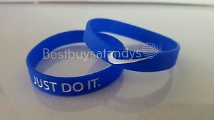Nike JUST DO IT Sports 3D Silicone Wristband Baller Bands Bracelets Swoosh Logo