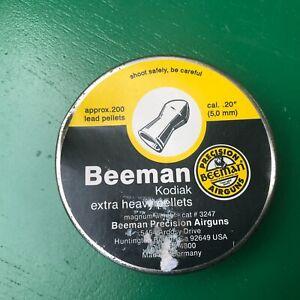 Beeman KODIAK in .20 cal 200 count tin NOS air rifle / pistol pellets