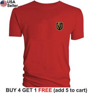Las Vegas Golden Knights T-Shirt Logo Men Cotton Chest