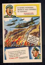 Mint WW2 Portugal Anti Nazi Propaganda Postcard RAF Bombing Germany