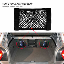 Car Rear Trunk Back Seat Elastic String Net Mesh Velcro Storage Bag Pocket Cage