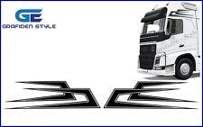 1 Paar ZACKEN LKW Aufkleber - Sticker - Decal - B 122cm x H 32cm !