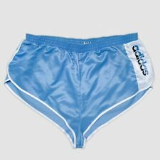RARE Vintage ADIDAS Sprinter Glanz Shiny Runner Shorts Med blue