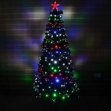 5ft 150cm Christmas tree Fiber Optic Pre-Lit xmas tree with LED Lights Christmas