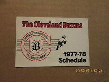 NHL The Cleveland Barons Vintage Defunct Circa 1977-78 Hockey Pocket Schedule