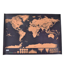 1x Deluxe Travel Edition Scratch Off World Map Poster Personalized Journal Log