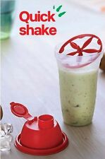 New Tupperware Jumbo Quick Shake - Shaker / Mixer Blender 500 ml (16.90 Oz) Red