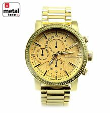 Men's Hip Hop Fashion Watches Stainless Steel Military Heavy Metal Band 1483 G