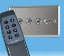 V-Pro IR, 4 Gang, 100 Watt IJ Remote/Touch LED Dimmer Polished Chrome inc Remote