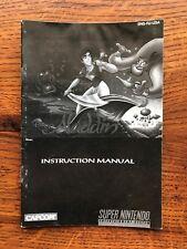 Aladdin Super Nintendo Instruction Manual Only