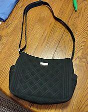 Vera Bradley City Shoulder Bag  Classic Black Microfiber black