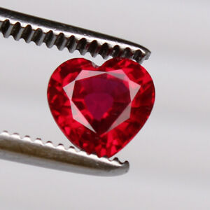 Natural Red Ruby 2.70 Ct Perfect Heart Cut Mozambique Loose Certified Gemstone