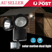 22 LED Dual Solar Powered Light Motion Sensor Outdoor Security Flood Lamp ZZ