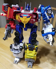Hasbro Transformers Combiner Wars Omega Prime 6-figure lot, loose Optimus Prime