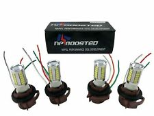 4x White 3157 LED Tail Brake Stop Backup Reverse Turn Signal Light Bulbs Pigtail