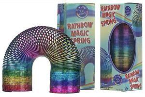 New Rainbow Slinky Spring Classic Retro Springy Slinky Toy Stocking Filler 15cm