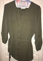 Women's Size Med Olive Blouse New!