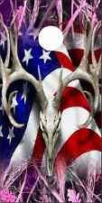 American Deer Tallgrass Pink Cam Cornhole Wrap Bag Toss Skin Decal Sticker Wraps