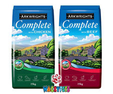 Arkwrights Complete Dry Dog Food 15KG x TWO. 1 x Beef & 1 x Chicken. 30KG. VALUE