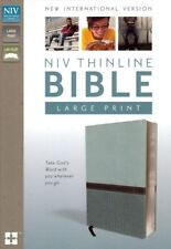 NEW Turquoise Leather! NIV ThinLine Bible, LARGE PRINT, Red Letter - Zondervan