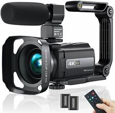 2021 New Upgraded Video Camera Camcorder, 4K WiFi Ultra HD 48MP Vlogging Recorde