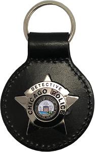 CHICAGO POLICE STAR KEY FOB: Detective
