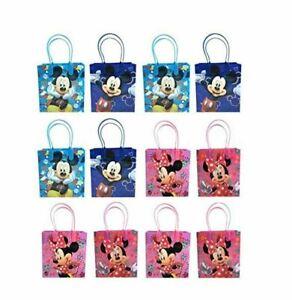 Lot 24 pcs Disney Mickey Minnie Birthday Goody Gift Bag Children's Party Supply