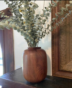 "Hearth Hand Magnolia Wooden Vases (w Glass Insert) 10"" Vase"