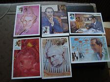 FRANCE - 6 cartes 1er jour 11/4/1992 (personnages celebres) (cy37) french