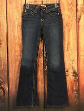 BIG STAR Jeans HAZEL CURVY FIT HORSESHOE Dark Wash Sz 24L 24 X 33 LONG
