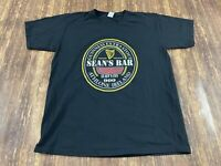 "Guinness Beer ""Sean's Bar"" Pub Shirt Ireland Men's Black T-Shirt - Large"