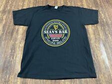 "New listing Guinness Beer ""Sean's Bar� Pub Shirt Ireland Men's Black T-Shirt - Large"