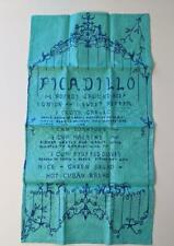 Key West Hand Prints Tea Towel Picadillo Recipe Peter Pell Design Unused Vintage