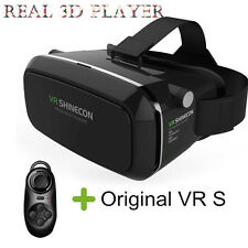 US 3D Virtual Reality Glass VR Box Goggles Bluetooth Gamepad For iPhone Samsung