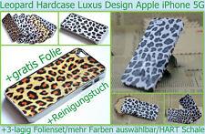 Hard Case Hart Cover iPhone 5 S Leo Schale Tasche Bumper Schutz hülle Folie klar