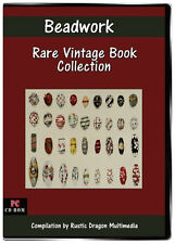 BEADWORK Vintage Book Collection  8 Vintage Books on CD Beading and Patterns