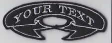 CUSTOM PERSONALISED RIBBON BIKER PATCH CLUB TRIKER SEW ON BUY 5 PAY FOR 4!!