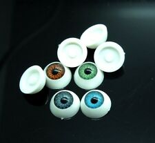 40Pcs(20pairs) Half Round Doll Bear Craft Plastic Eye Mixed Color Eyes 11mm