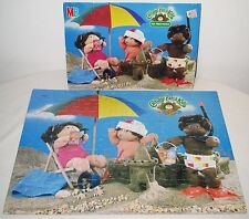 Vintage 1984 Cabbaga Patch Kids 100 Pieces Puzzle At The Beach Mb Milton Bradley