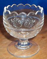 Vintage Crystal Small Pedestal Bowl