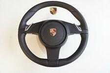 Porsche 991 981 Volante calentado Deporte Negro Cuero incl. 99134780308 a34