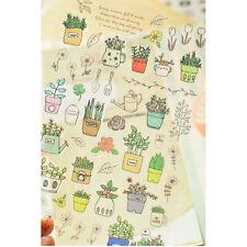 South Korea Garden Plants Flower Sticker Kids DIY Diary Album Scrapbooking Decor