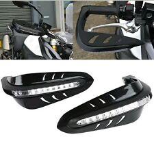 Pair Motorcycle Led Light Handle Brush Bar Hand Guard Protector Royal Enfield