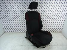 2012 NISSAN JUKE F15 Left Passengers Side Front Seat In Black & Red Cloth 10-14