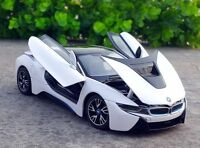 Rastar 1:24 BMW i8 Concept Car vehicle metal diecast model new in box white Toy